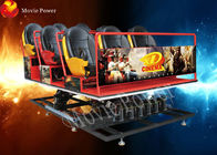 Full set 6-12 Dynamic Seats 5d Mobile Cinema With Specially Effect
